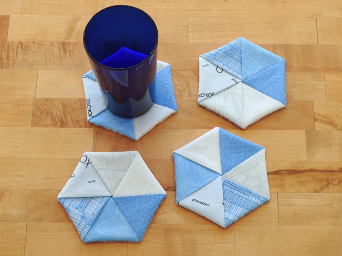 Hexie Coasters.