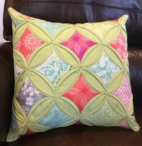 Cathedral Window Pillow  Quiltish