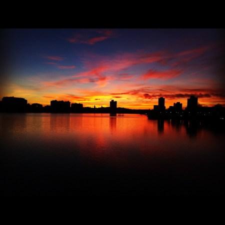 Sunset over Allston