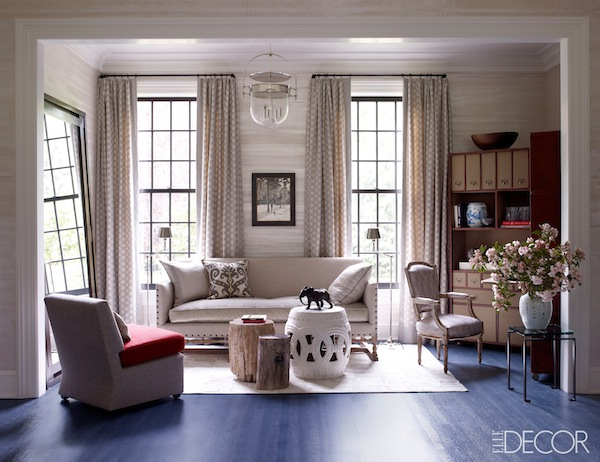 1st Peek Thom Filicia Does Greenwich in ELLE DECOR - Quintessence - elle decor living rooms