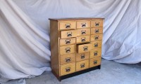 Vintage Timber Filing Cabinet - quintessential duckeggBLUE