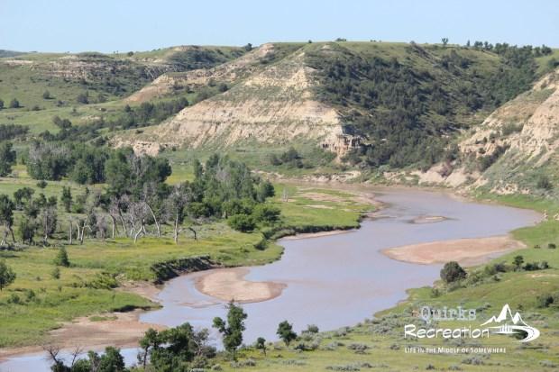 Theodore Roosevelt National Park river overlook