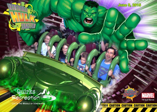 The Incredible Hulk Coaster - Islands of Adventure, Universal Orlando