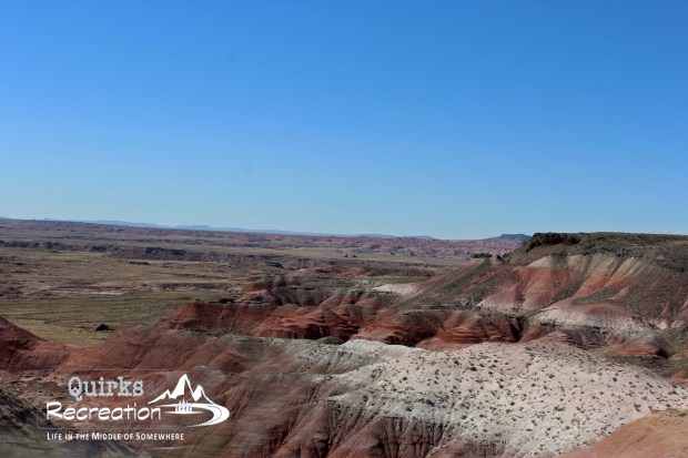 Petrified Forest National park view of Painted Desert