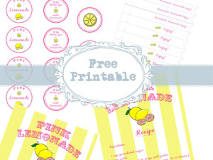 Lemonade Printables