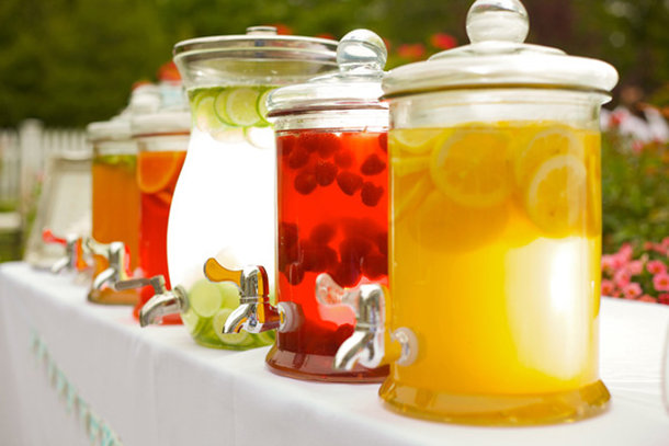 Glass jars for hire - drinks dispenser with tap - Quirky Parties