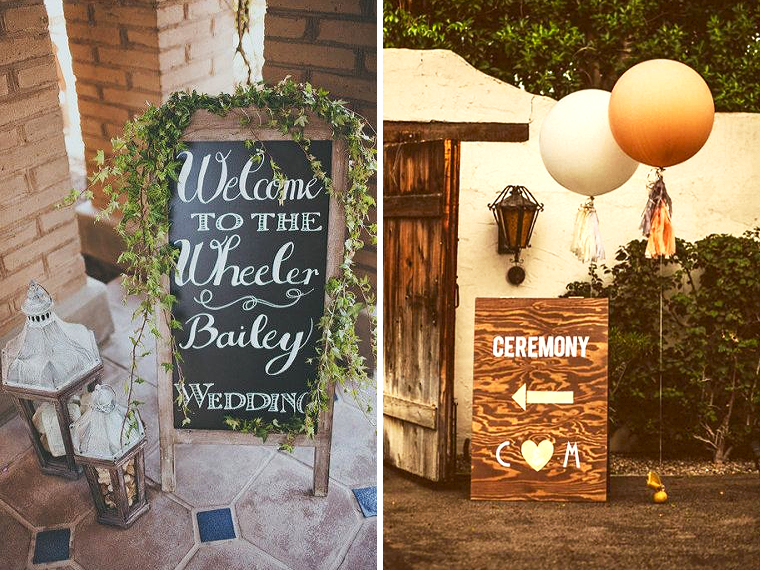 Quirky Parties Entrace Vintage Decor Sign