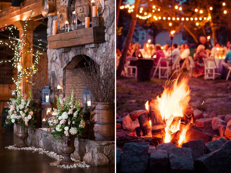Quirky Parties Winter Fireplace