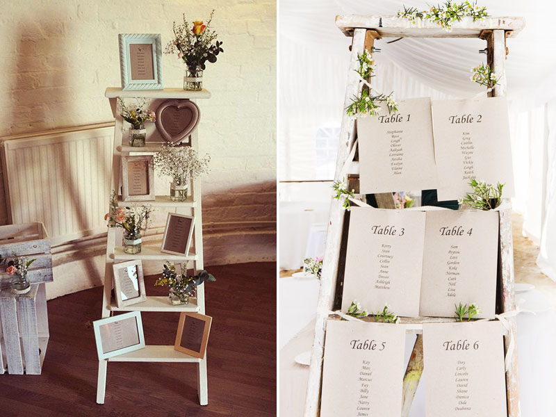 Quirky Parties Ladder Seating Chart