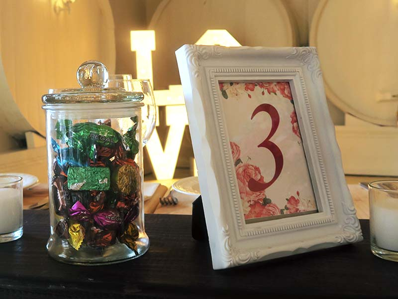 Frame Table Numbers - Quirky Parties