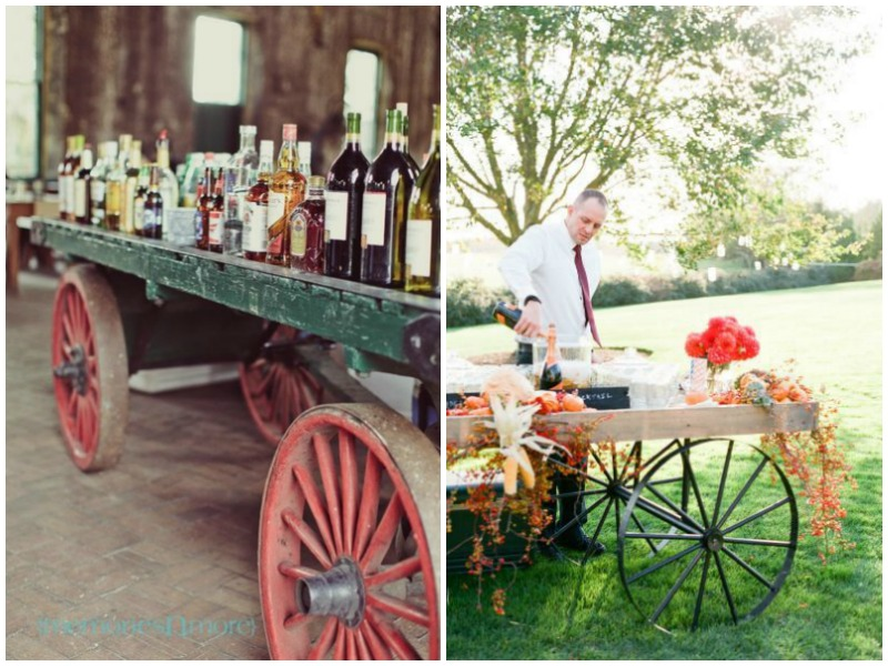 Drinks station or champagne wagon - quirky parties