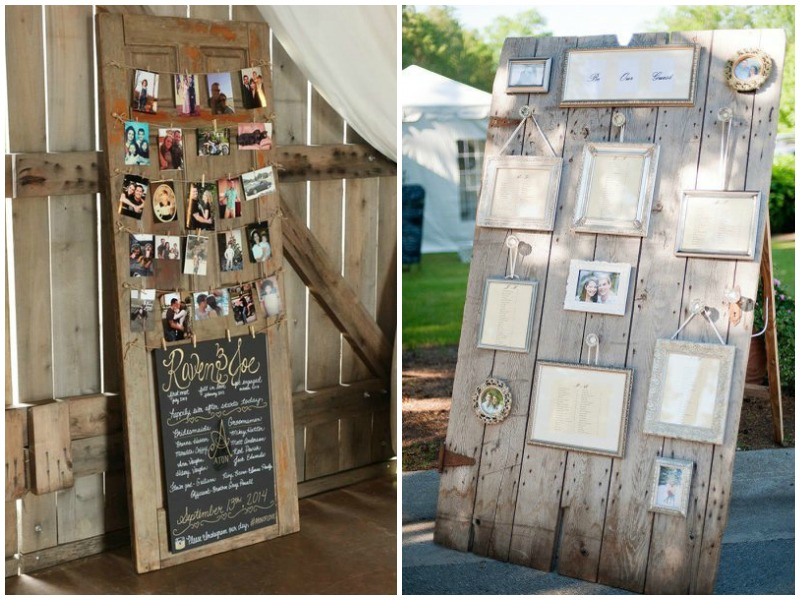 Family photos on vintage doors - Quirky Parties
