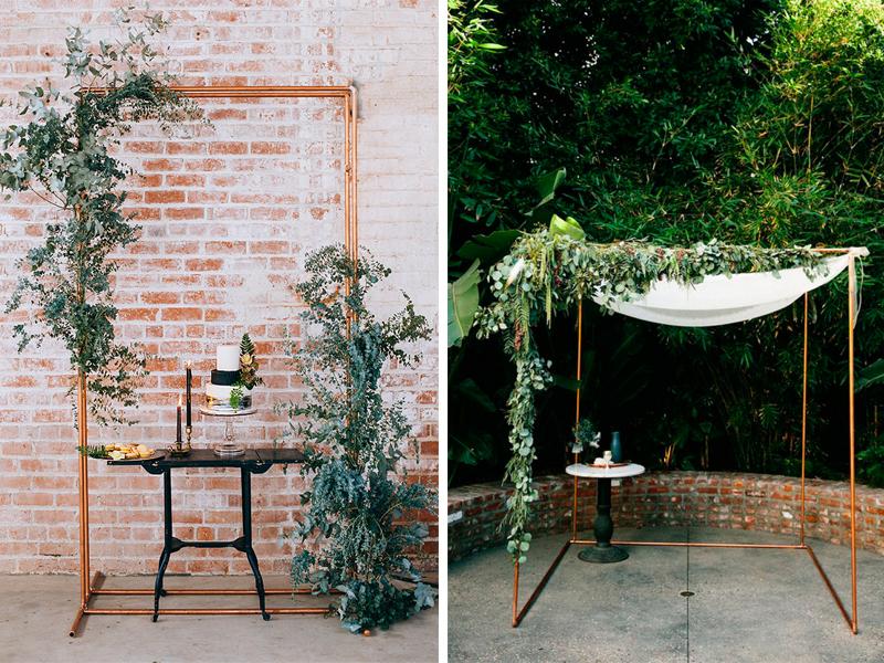 Wedding Backdrops Arches - Copper Pipe Arch