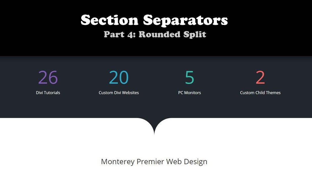 How to Create a Rounded Split Between Sections in Divi