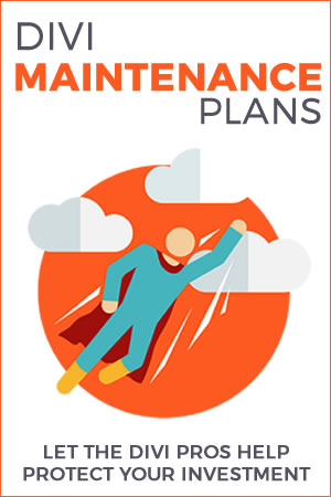 Divi Maintenance Plans