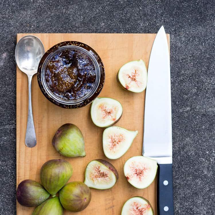 Fig, balsamic and vanilla jam