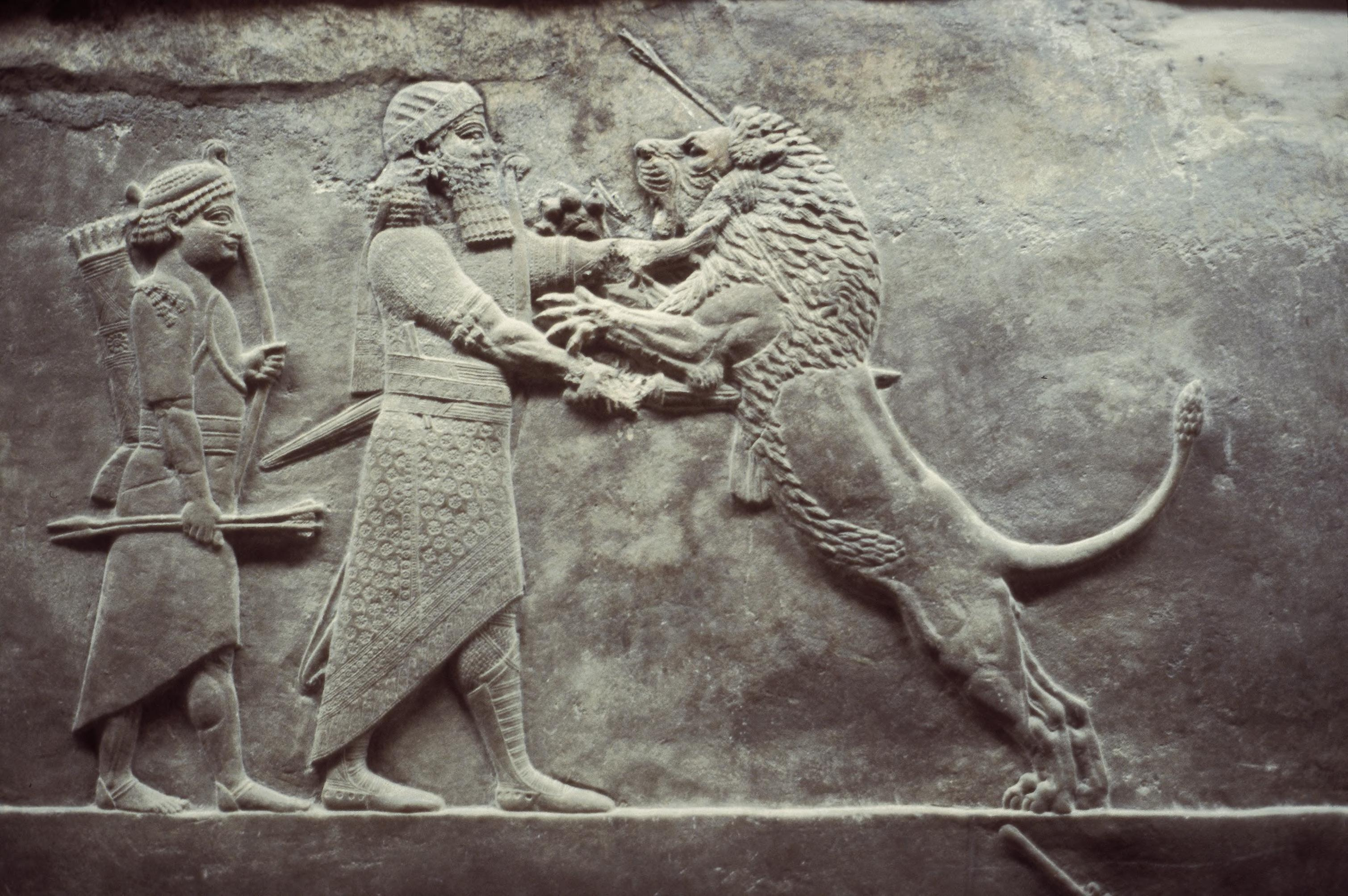 Motif Relief Art Images For College Teaching Lion Hunt Of Ashurbanipal The