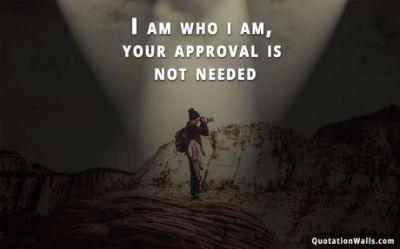 I Am Who I Am Attitude Wallpaper for Desktop - QuotationWalls