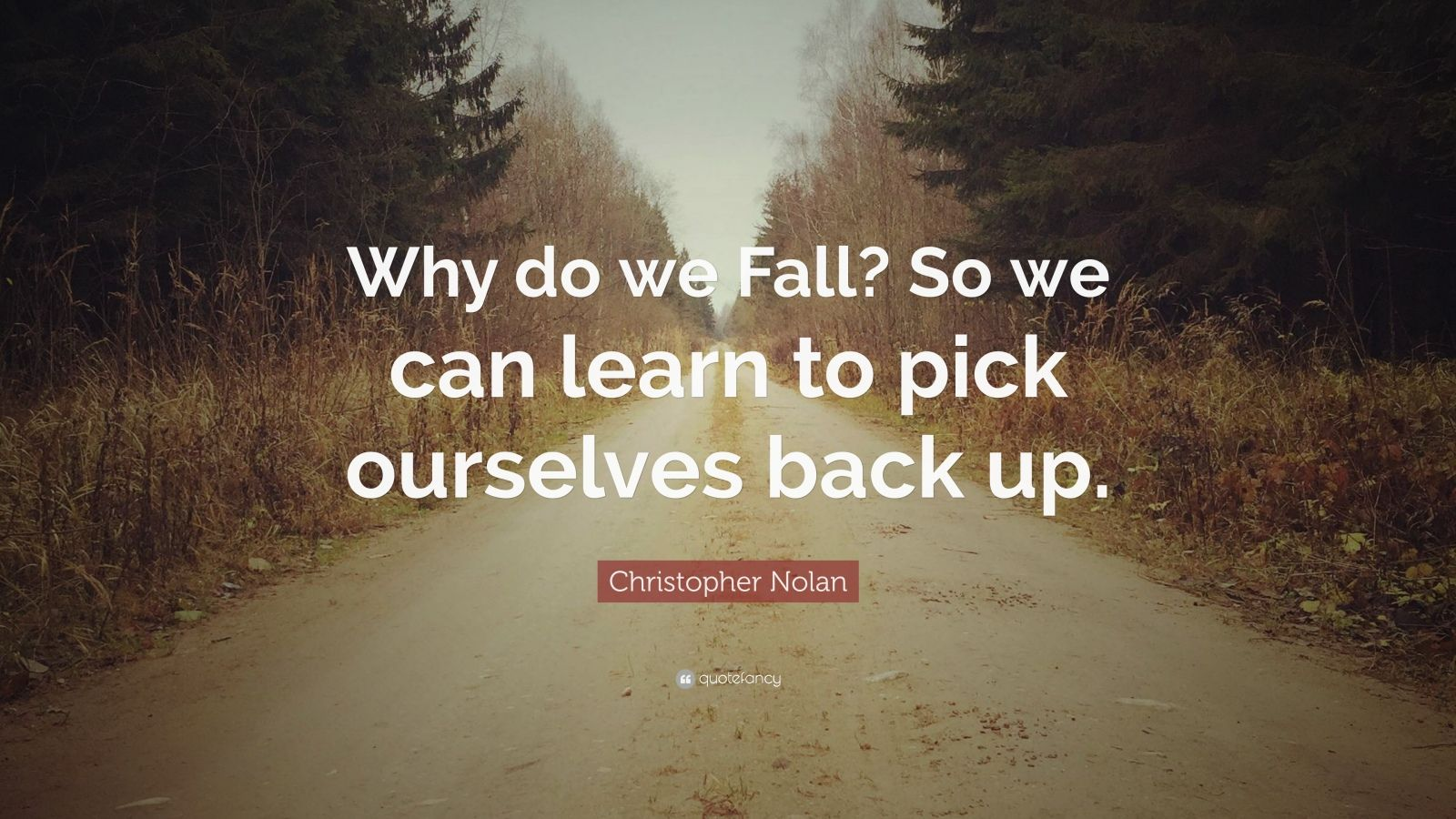 Why Do We Fall Wallpaper Christopher Nolan Quote Why Do We Fall So We Can Learn