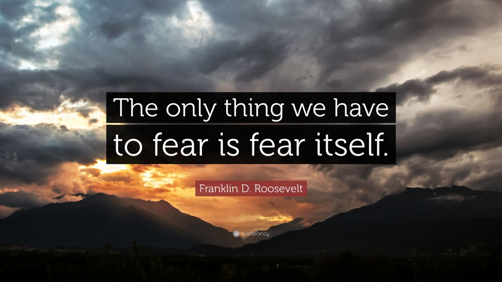 Napoleon Hill Quotes Wallpaper Franklin D Roosevelt Quote The Only Thing We Have To