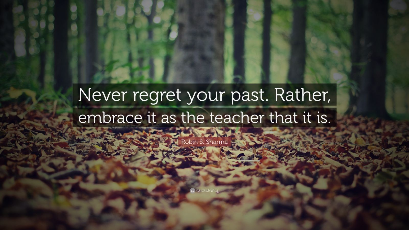 Napoleon Hill Quotes Wallpaper Robin S Sharma Quote Never Regret Your Past Rather