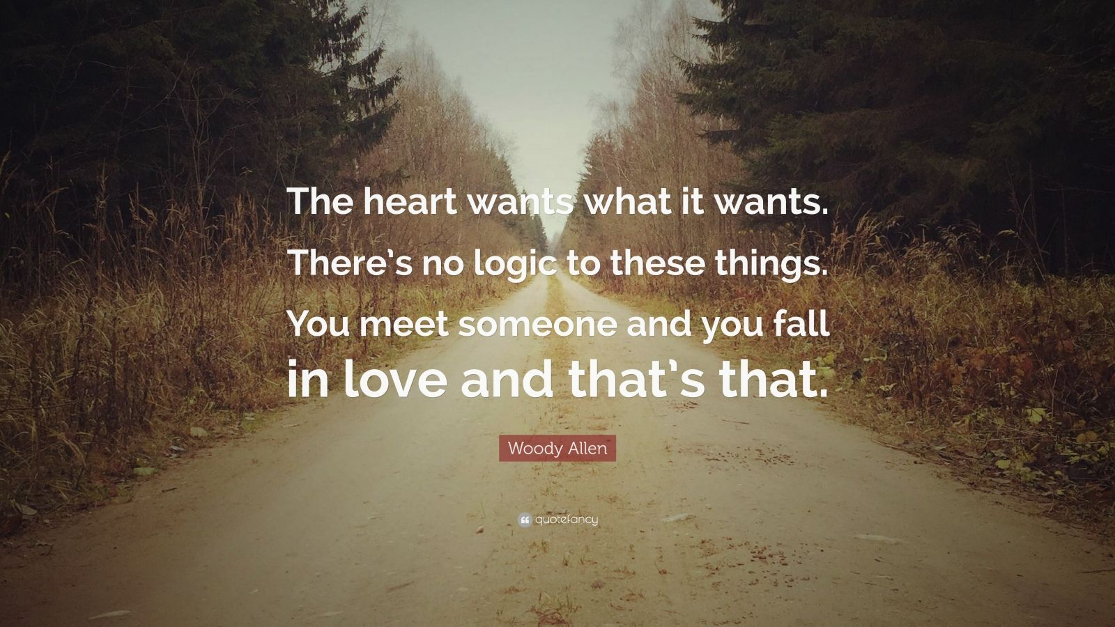 Fancy Quote Wallpaper Woody Allen Quote The Heart Wants What It Wants There S