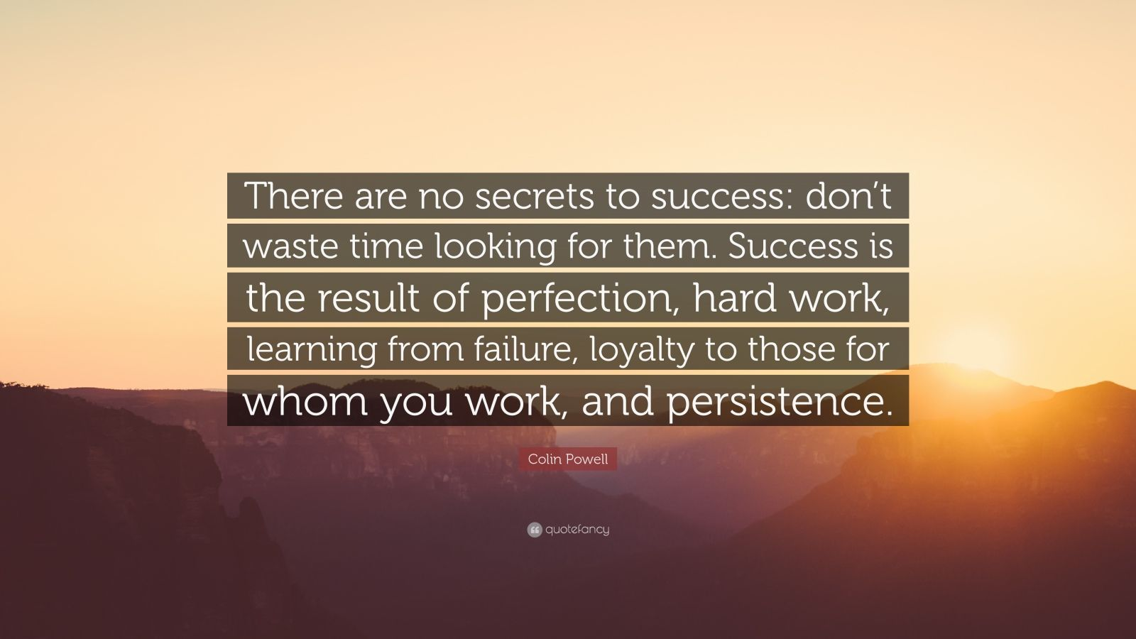 Persistence Quotes Wallpapers Colin Powell Quote There Are No Secrets To Success Don