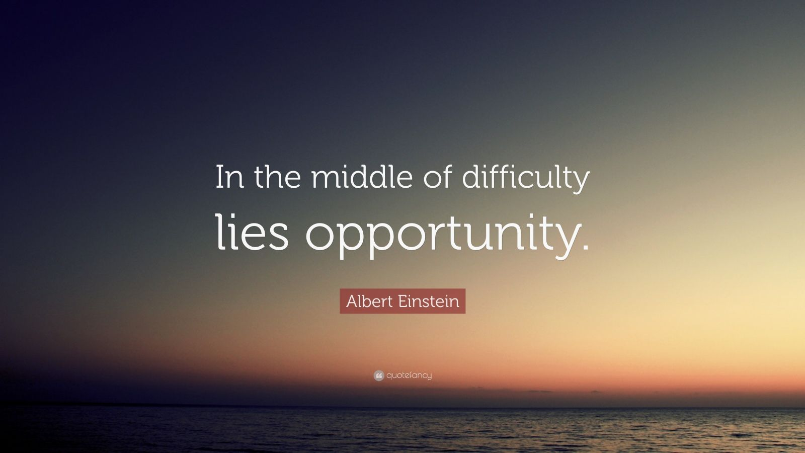 Wallpaper Hello Fall Albert Einstein Quote In The Middle Of Difficulty Lies