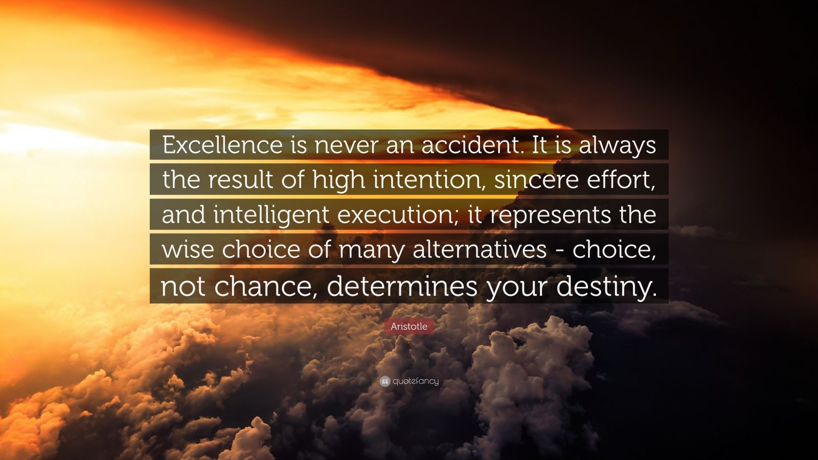 Very Very Sad Wallpapers With Quotes Aristotle Quote Excellence Is Never An Accident It Is