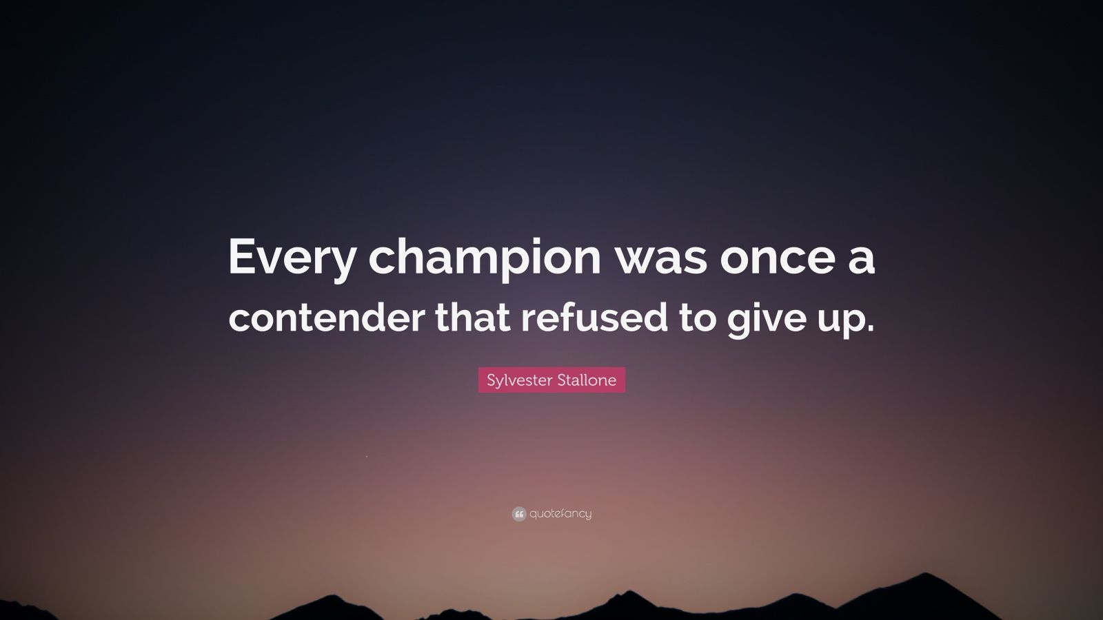 Napoleon Hill Quotes Wallpaper Sylvester Stallone Quote Every Champion Was Once A