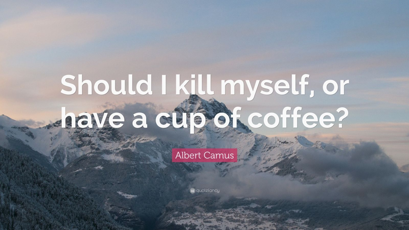 Albert Camus Quotes Wallpaper Albert Camus Quote Should I Kill Myself Or Have A Cup