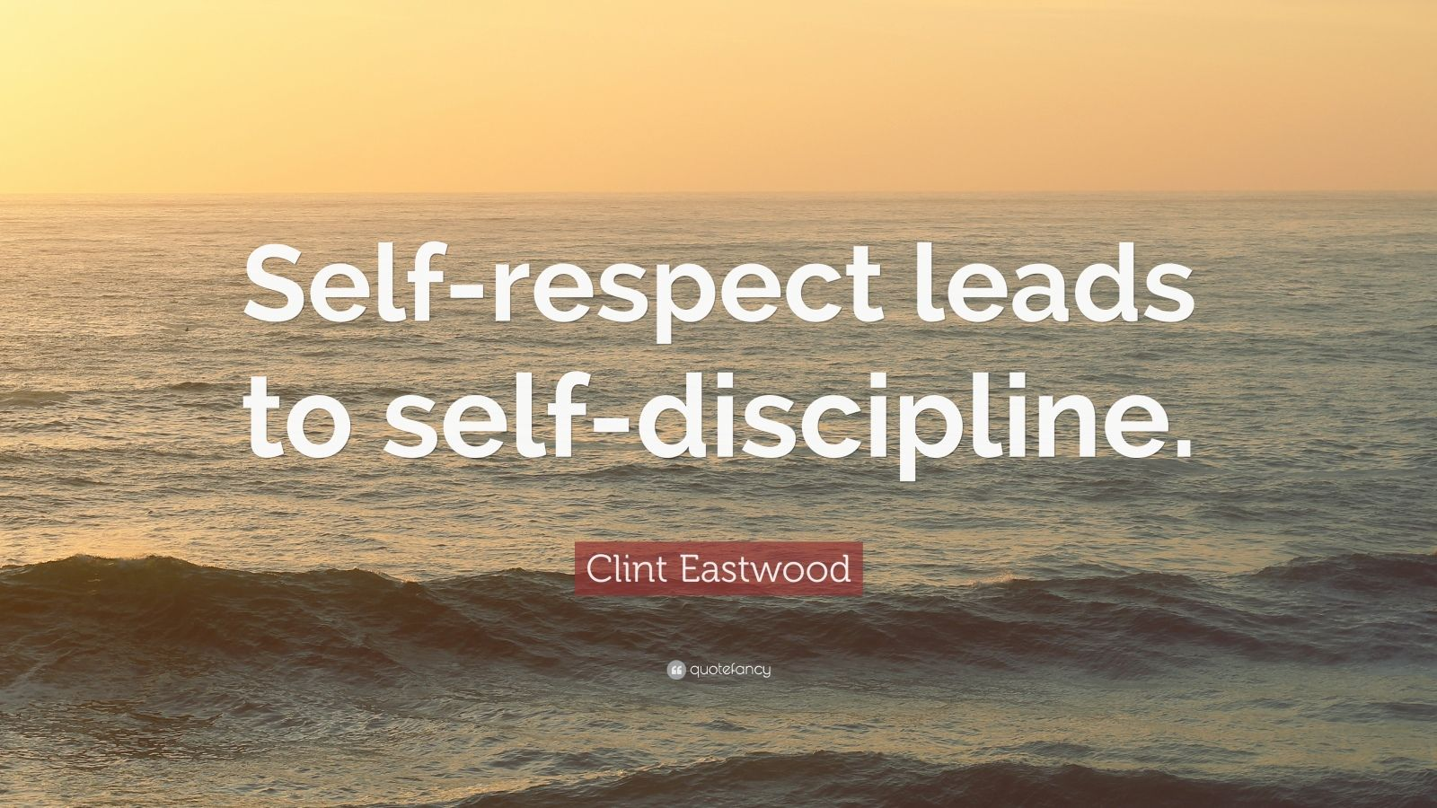 Wooden Quotes Wallpaper Clint Eastwood Quote Self Respect Leads To Self