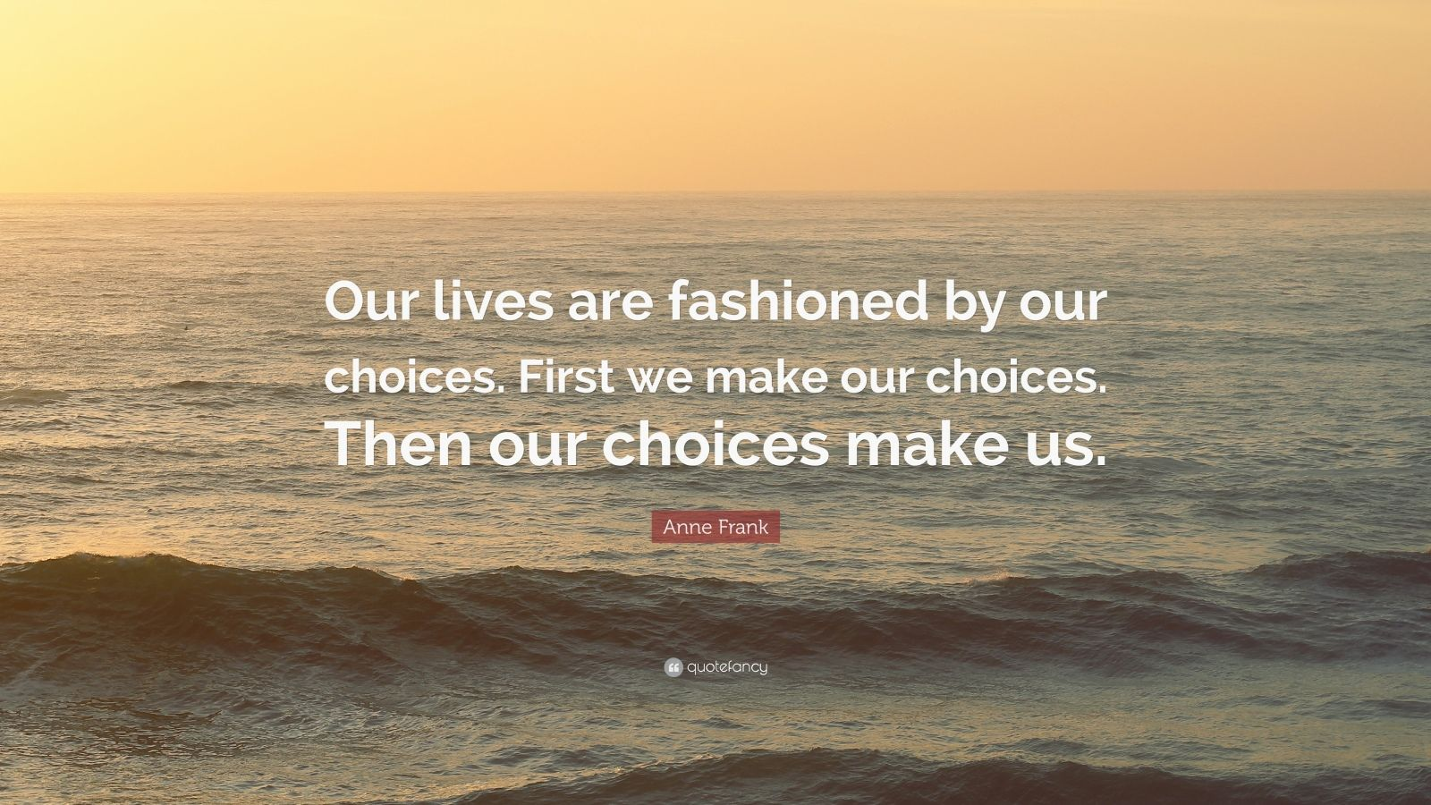 Theodore Roosevelt Wallpaper Quote Anne Frank Quote Our Lives Are Fashioned By Our Choices