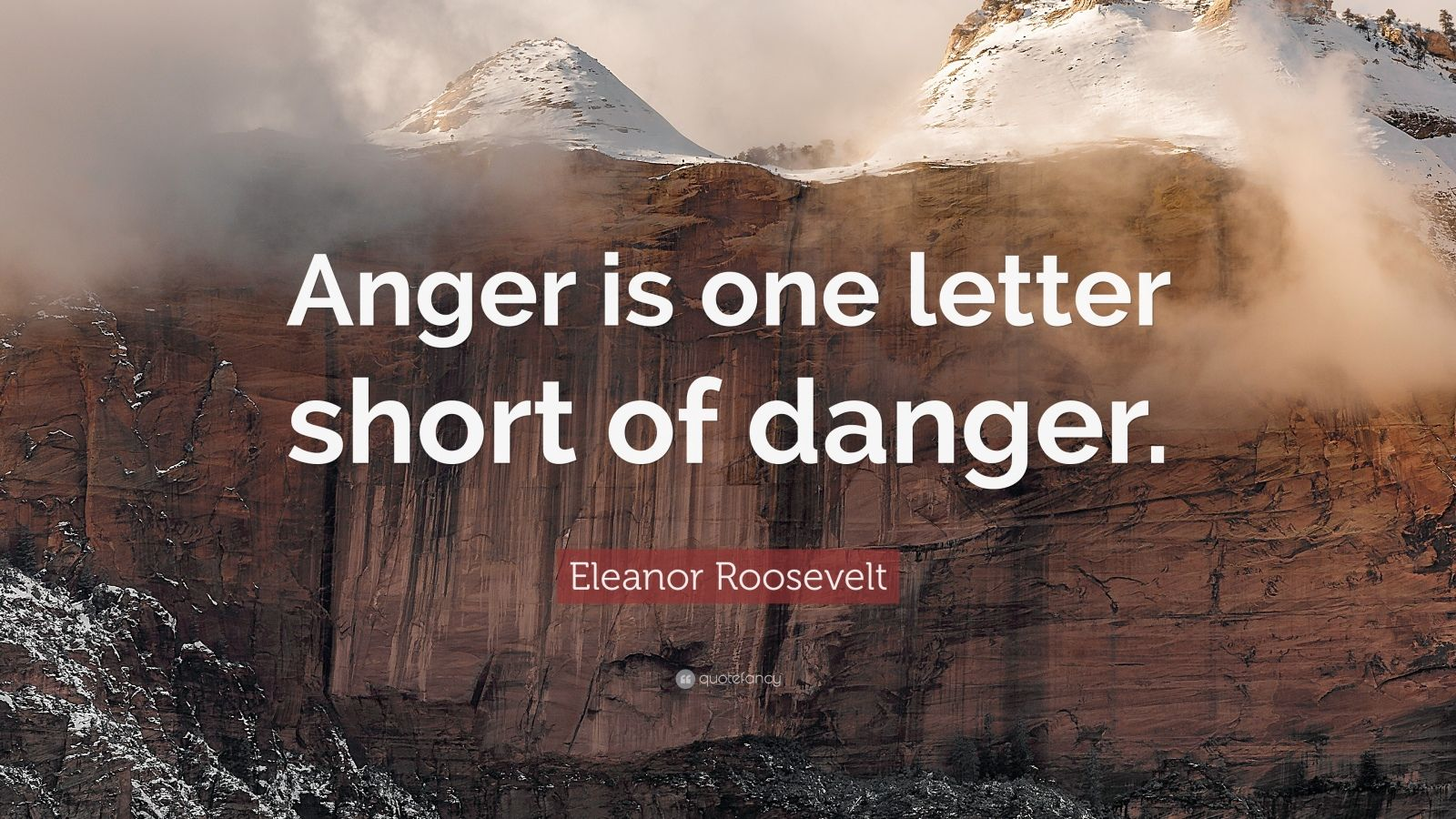 Wallpaper With Quotes Attitude Eleanor Roosevelt Quote Anger Is One Letter Short Of
