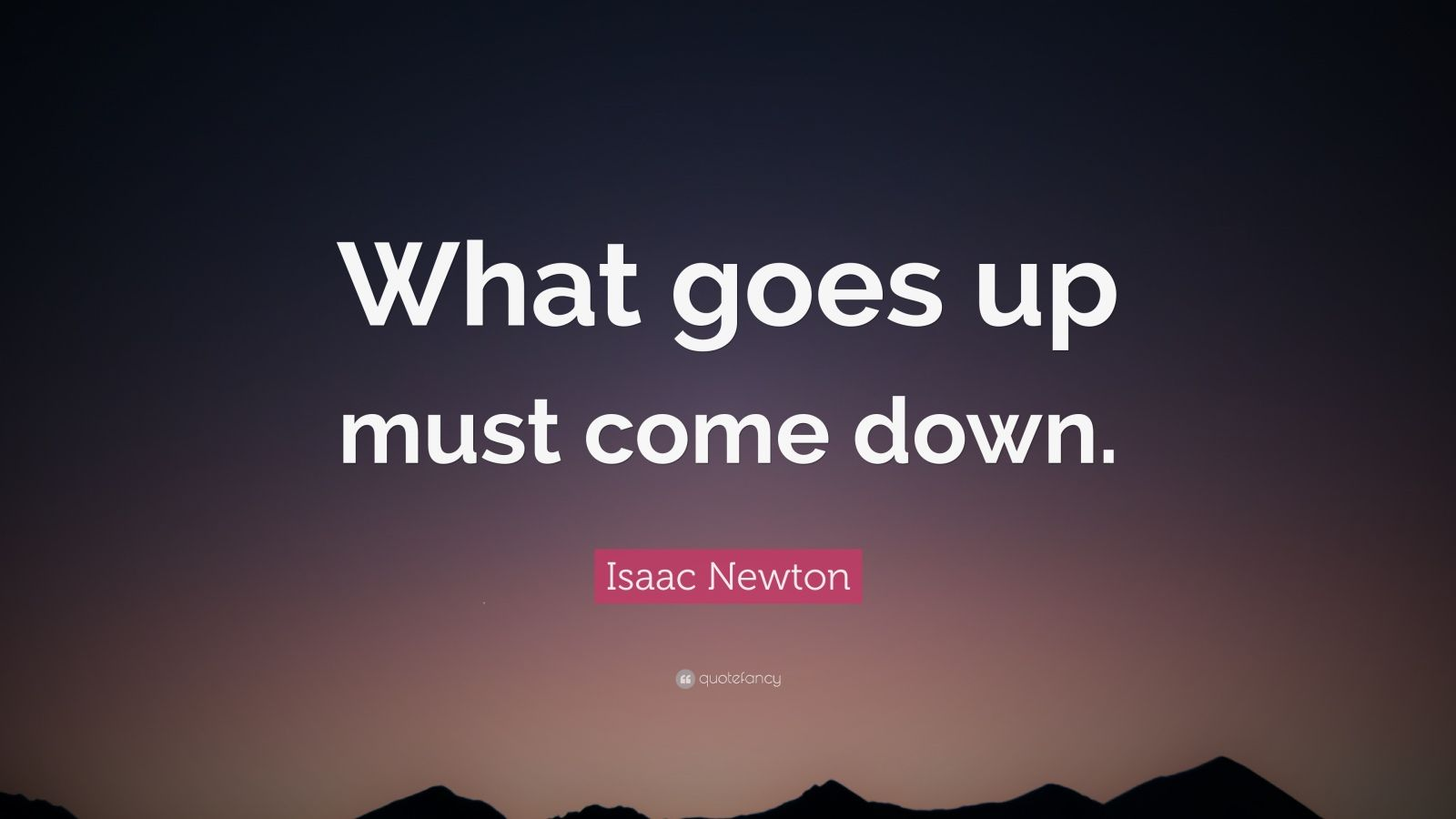 Love Understanding Quotes Wallpaper Isaac Newton Quote What Goes Up Must Come Down 12