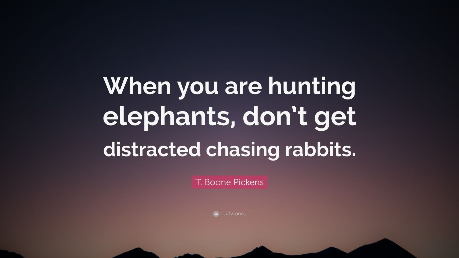 Beautiful Sad Quotes Wallpaper T Boone Pickens Quote When You Are Hunting Elephants