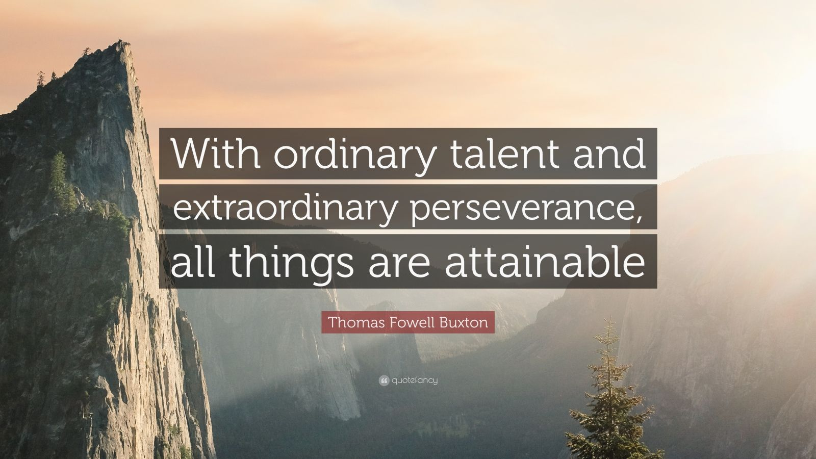 Zen Quote Wallpaper Thomas Fowell Buxton Quote With Ordinary Talent And