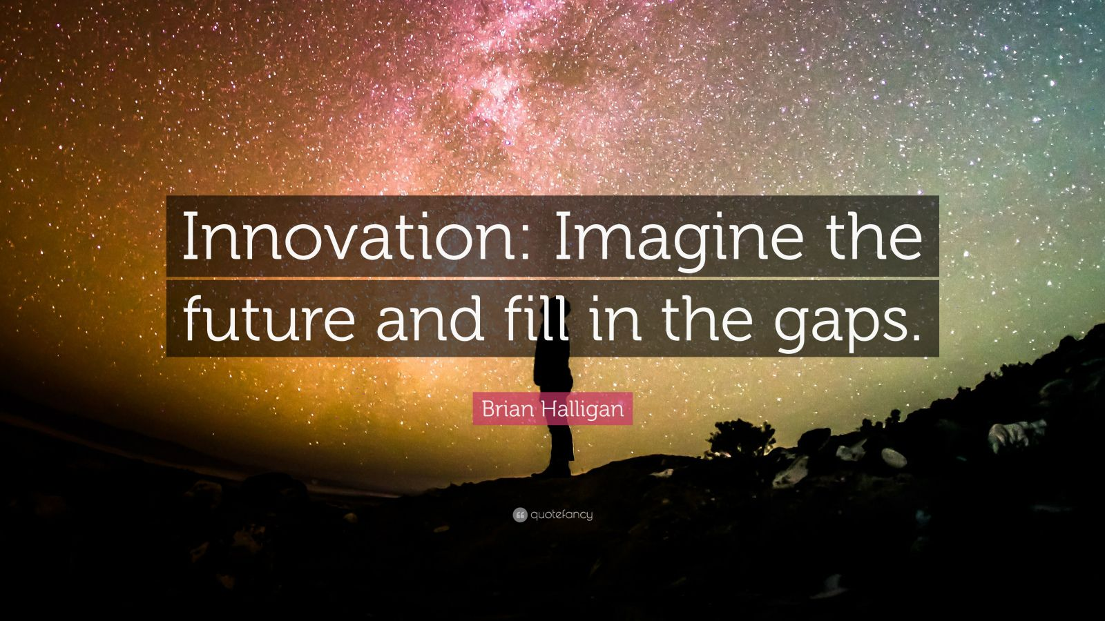 Fancy Quote Wallpaper Brian Halligan Quote Innovation Imagine The Future And