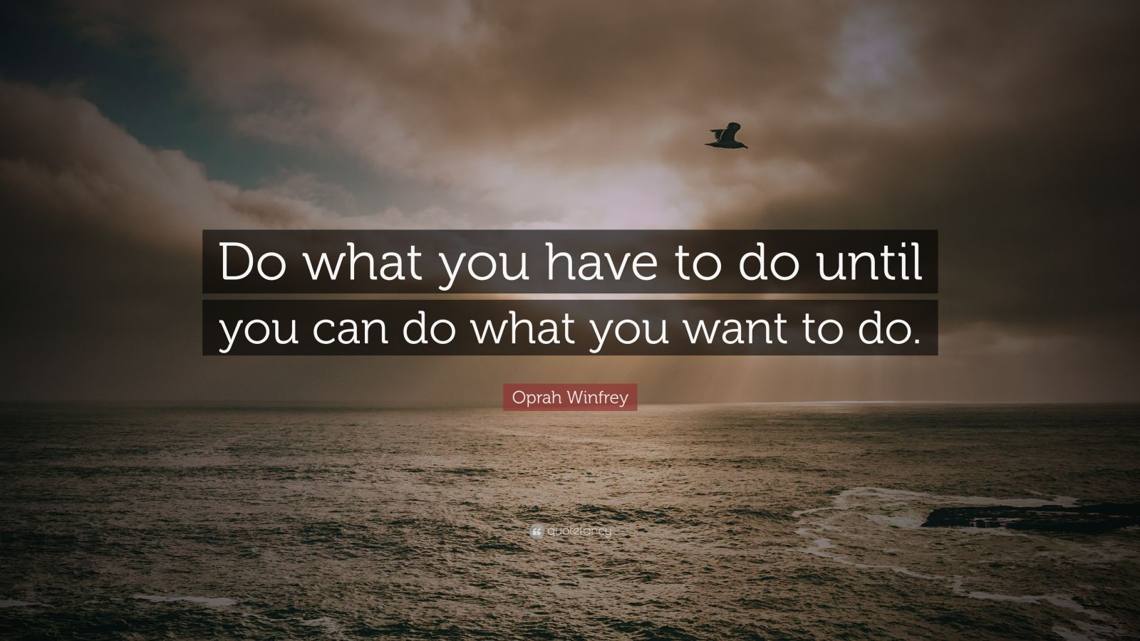 Oprah Winfrey Quote Do What You Have To Do Until You Can