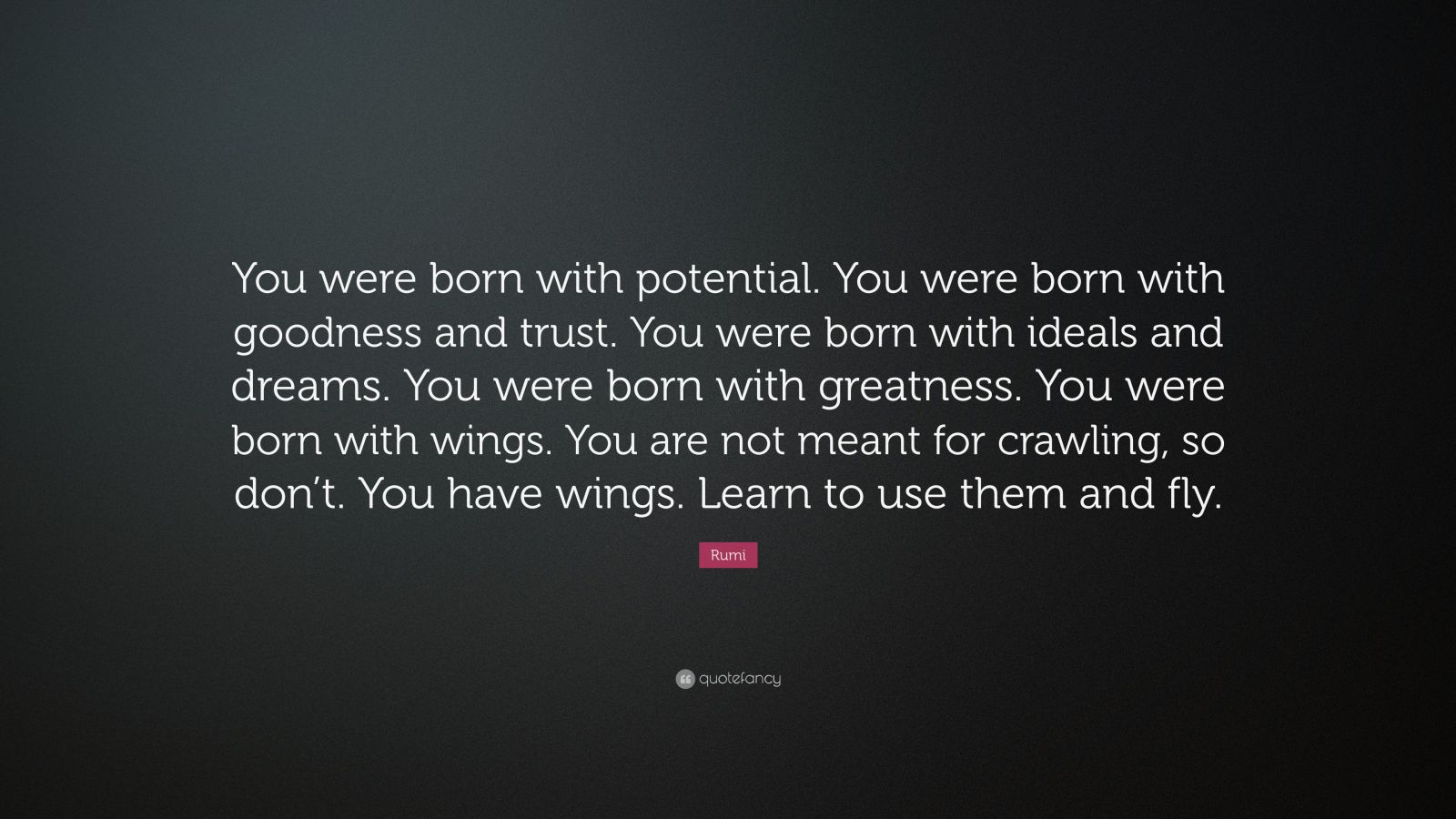 Theodore Roosevelt Wallpaper Quote Rumi Quote You Were Born With Potential You Were Born