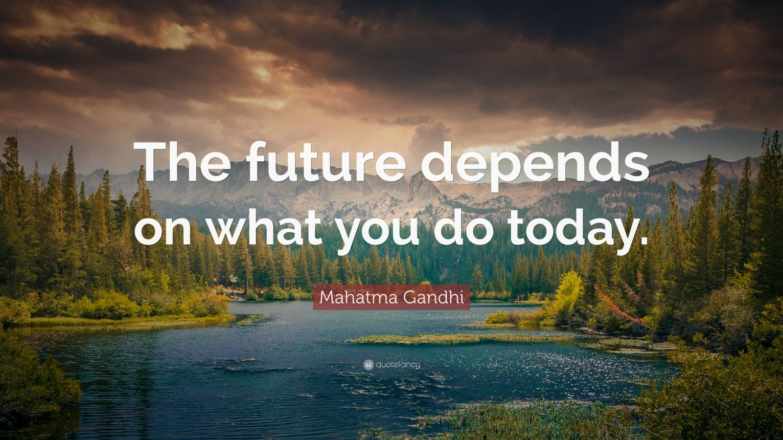 Mahatma Gandhi Wallpaper With Quotes Mahatma Gandhi Quote The Future Depends On What You Do