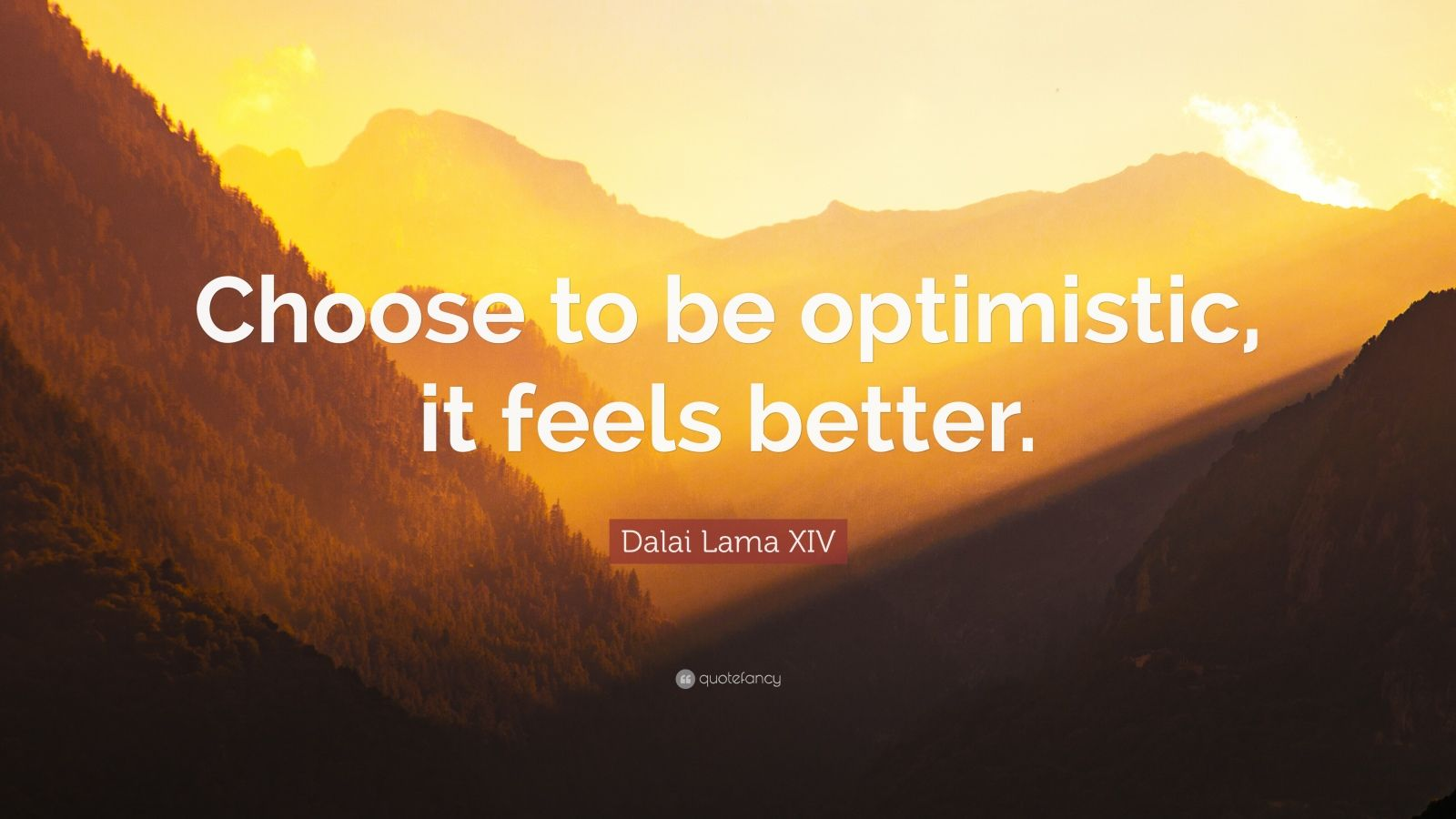 Dalai Lama Quotes Wallpapers Dalai Lama Xiv Quote Choose To Be Optimistic It Feels