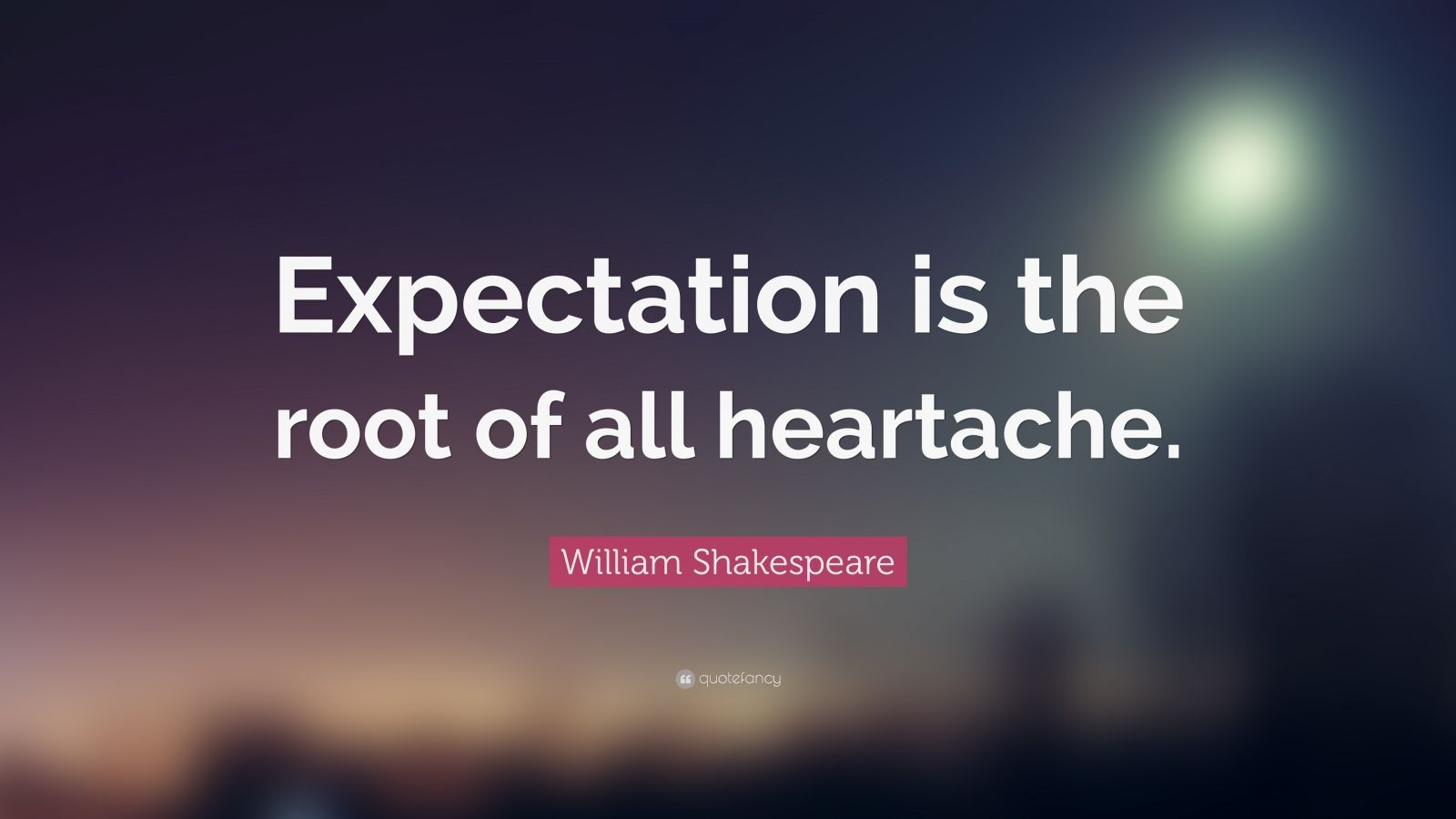 Inspiring Quotes With Wallpapers William Shakespeare Quote Expectation Is The Root Of All