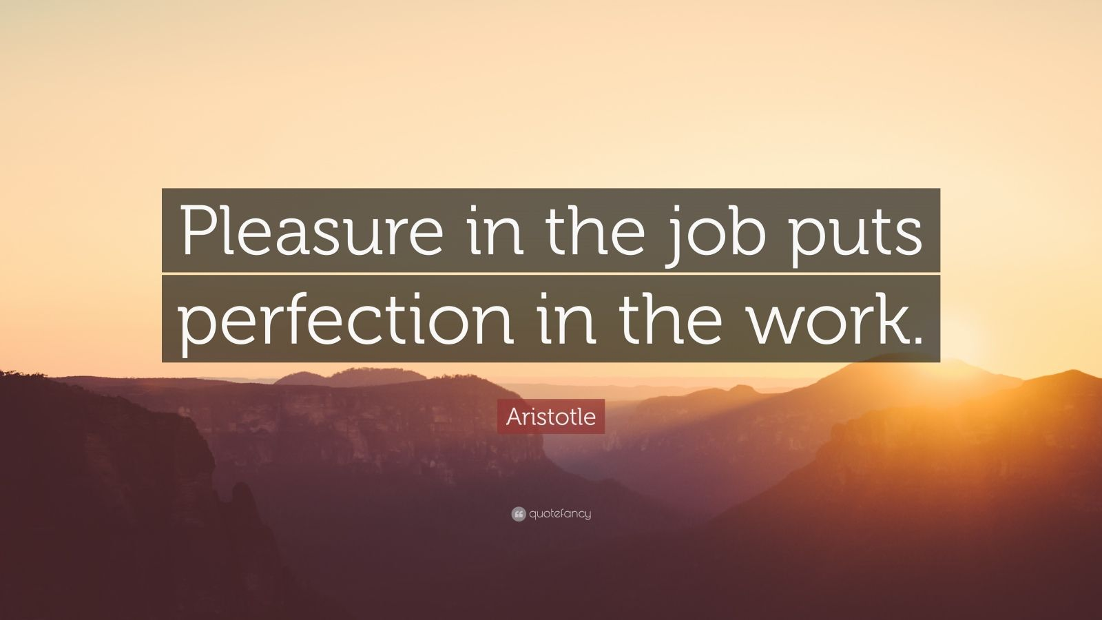 Quotes About Success Wallpaper Aristotle Quote Pleasure In The Job Puts Perfection In
