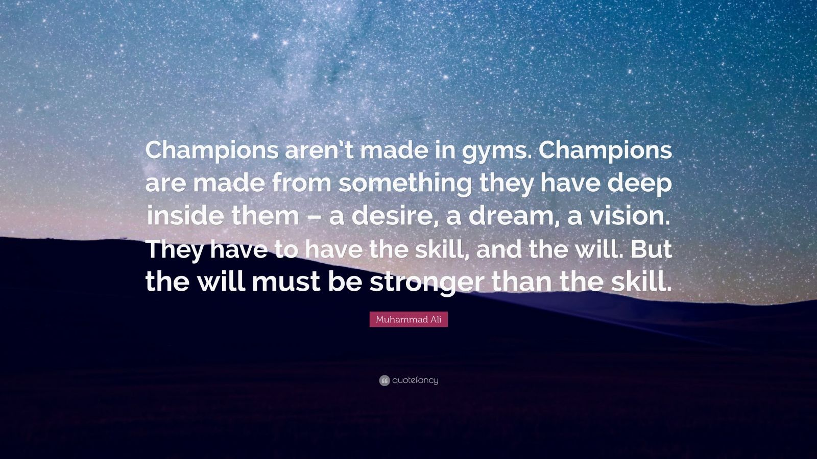 Motivational Football Quotes Wallpaper Muhammad Ali Quote Champions Aren T Made In Gyms
