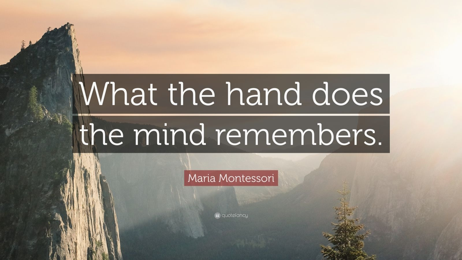 Islamic Quotes And Wallpapers Maria Montessori Quote What The Hand Does The Mind