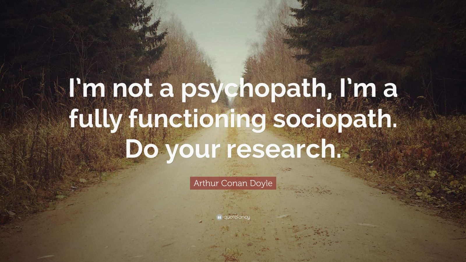 Impossible Quote Wallpaper Arthur Conan Doyle Quote I M Not A Psychopath I M A