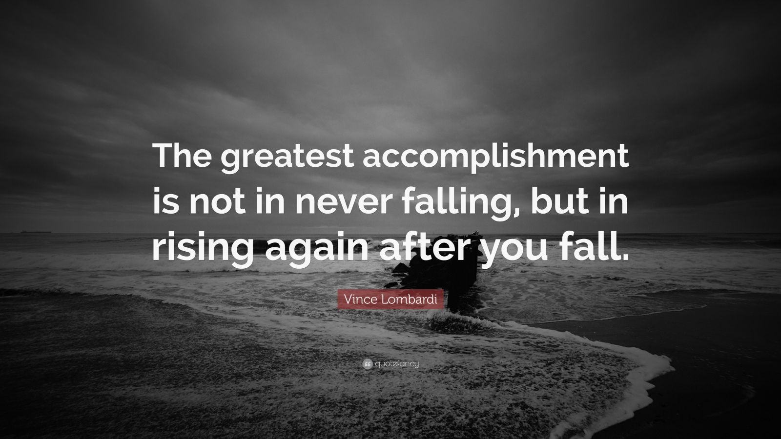 Wallpaper Hello Fall Vince Lombardi Quote The Greatest Accomplishment Is Not