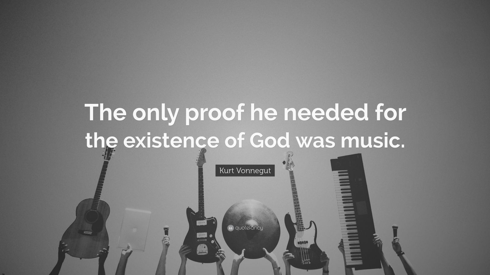 Wallpaper Writing Quotes Kurt Vonnegut Quote The Only Proof He Needed For The