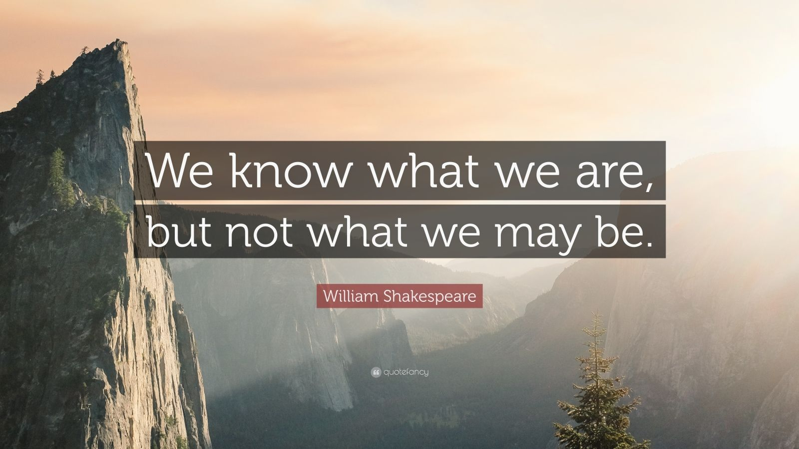 Quotes On True Love With Wallpaper William Shakespeare Quote We Know What We Are But Not